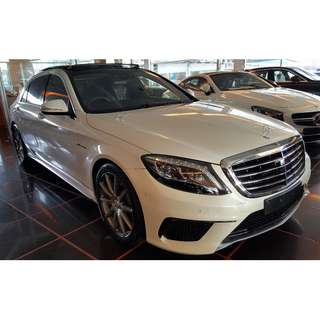 MERCEDES BENZ S63L 5.5 AMG BI-TURBO PANORAMIC ROOF IWC CLOCK DISTRONIC PLUS FULLY LOADED (A) OFFER UNREG