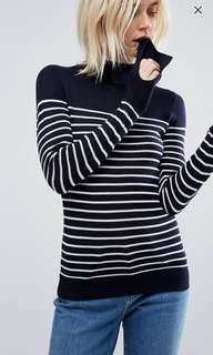 ASOS Sweater in Stripe with High Neck