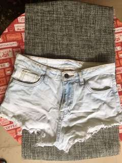 Hollister Faded light Wash Shorts