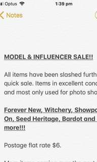 MASSIVE INFLUENCER SALE