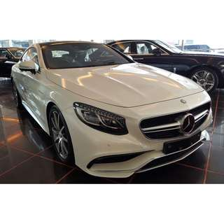 MERCEDES BENZ S63 COUPE 5.5 AMG V8 BI-TURBO FULLY LOADED (A) OFFER UNREG