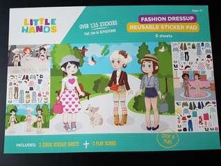 [INSTOCK] BN Fashion Dress up Reusable Sticker Pad (Girls)