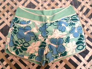 Blue Floral Swimming Shorts