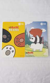 NEW Limited Edition We Bare Bear Ezlink Set