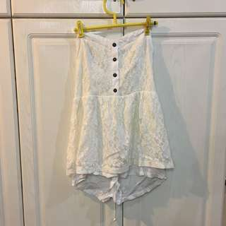 White Lacey Sweetheart Playsuit