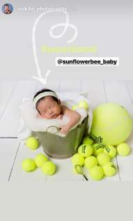 Baby headband. Tennis. Baby. Newborn Photography.