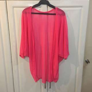 NEW! Neon Pink Cover Up Kimono