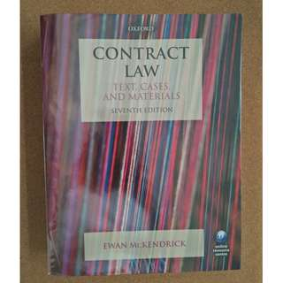 Contract Law: Text, Cases & Materials, McKendrick, 7th Ed