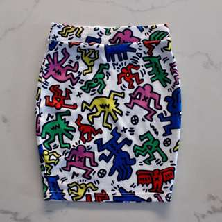 Sold Out Keith Haring Bodycon Skirt