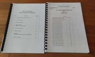 H2 Chemistry  H2 Maths JC2