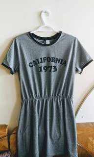 F21 Grey T-shirt Dress