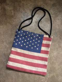 US Flag Abaca Bag