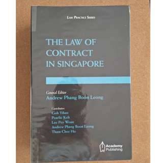 The Law of Contract in Singapore (Andrew Phang, ed)