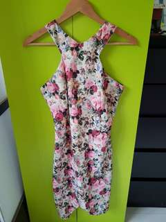 BNWT Romantic Florals Cut-In Dress