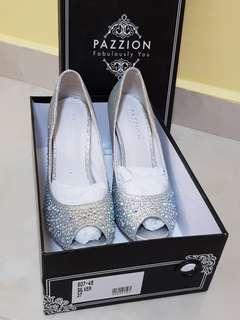 Pazzion Silver Glitter Heels EU37 (807-48)