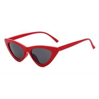 Zara Slim Cat's Eye Sunglass in Red