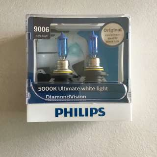HB4 9006DV 12V 65W Philips 5000K Ultimate White Diamond Vision Car Headlight Bulb