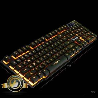 🚚 BN Yellow Backlit with Character Glow Keyboard for Gaming YE74