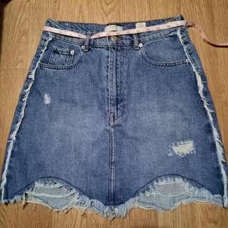 Zara Woman Denim Skirt