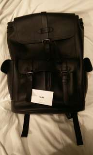 100% authentic Coach Backpack men All leather genuine Color Black
