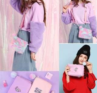 PO furry paddlepop sling bag
