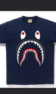 Bape shark ponr tee