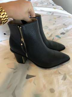 Witcher leather black boots