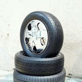Used 195/65 R15(Sold) Bridgestone (2pcs) 🙋♂️