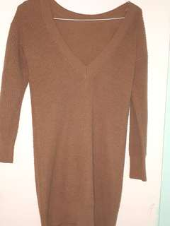 Brown sweater top