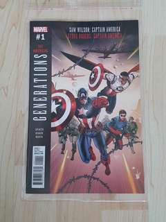 Marvel Comics Generations Steve Rogers Sam Wilson Captain America One Shot Near Mint Condition