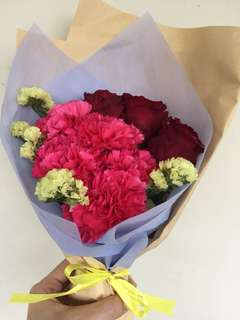Carnations with Roses Bouquet