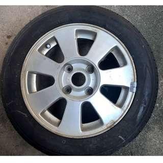 Proton Waja Rim & Toyo Tires 15 (1Pcs)