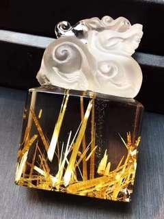 Natural titanium crystal (polypodium/titanium crystal flower)