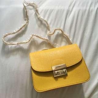 Yellow Cross Body/ Shoulder Bag