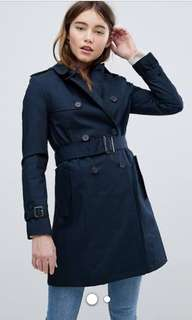 Oroton navy trench coat