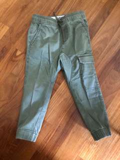 Cotton On Kids Jogger Pants in Army Green