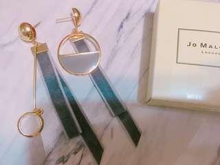 🚚 緞帶圓耳環