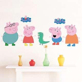 108X42cm peppa pig wall decal sticker