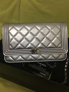 Chanel  woc銀色