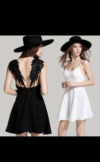 $18 feather sexy dress