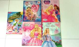 Barbie Fairytales (Swan Lake, The Diamond Castle, A Fashion Fairytale, Mariposa) + Free TinkerBelle Magazine!!