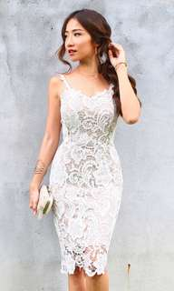 Love affair white lace dress