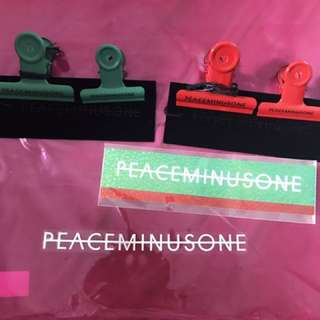 Peaceminusone Bulldog Clip #10, #11 sticker set