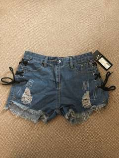 Ripped denim shorts *brand new*