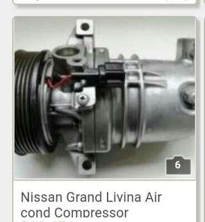Nissan grand livina air cond compressor