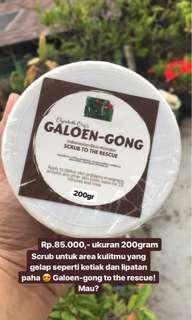 Galoen-Gong Lightening Coffee Scrub untuk ketiak, pangkal paha dan selangkangan yang hitam
