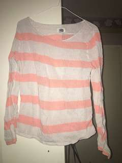 Woman's striped long sleeve