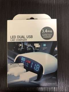 USB Car Charger with led display