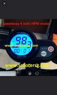 Latest SPEEDWAY 4 with SW4 Motor (free load speed 92+ km/h) from Minimotors local authorized distributor.