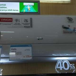 LG AC Split 1PK Inverter D1ORIV3 DP 0% Cukup Admin 199.000 Tanpa CC